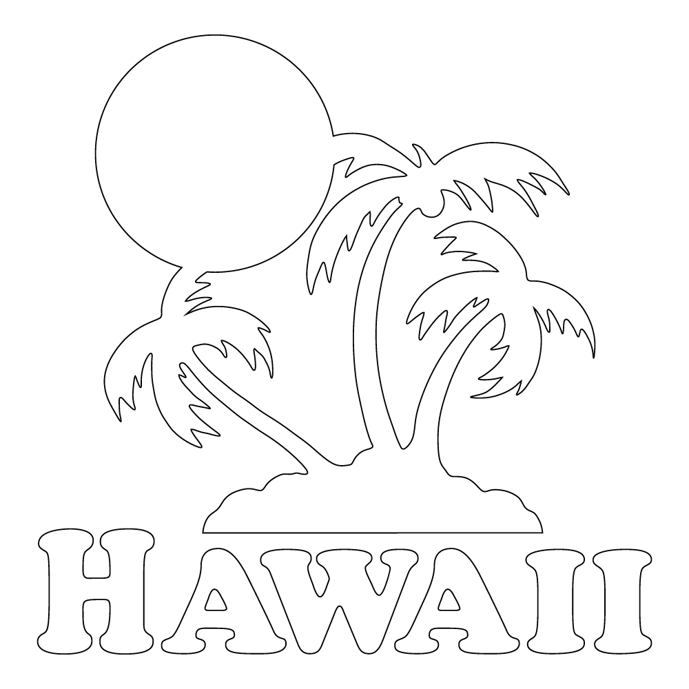 Inbloom Stickers Hawaii Sunset Car Sticker