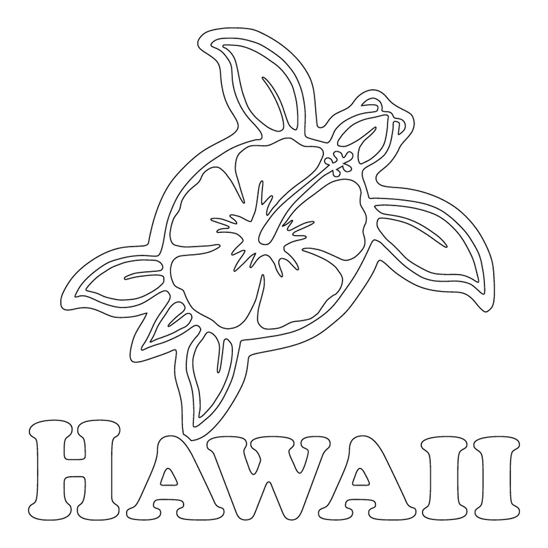 Inbloom Stickers Hawaii Hibi Turtle Car Sticker