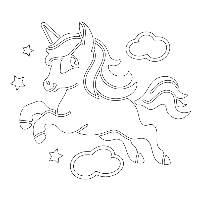 Inbloom Stickers High in the Clouds Unicorn Car Sticker