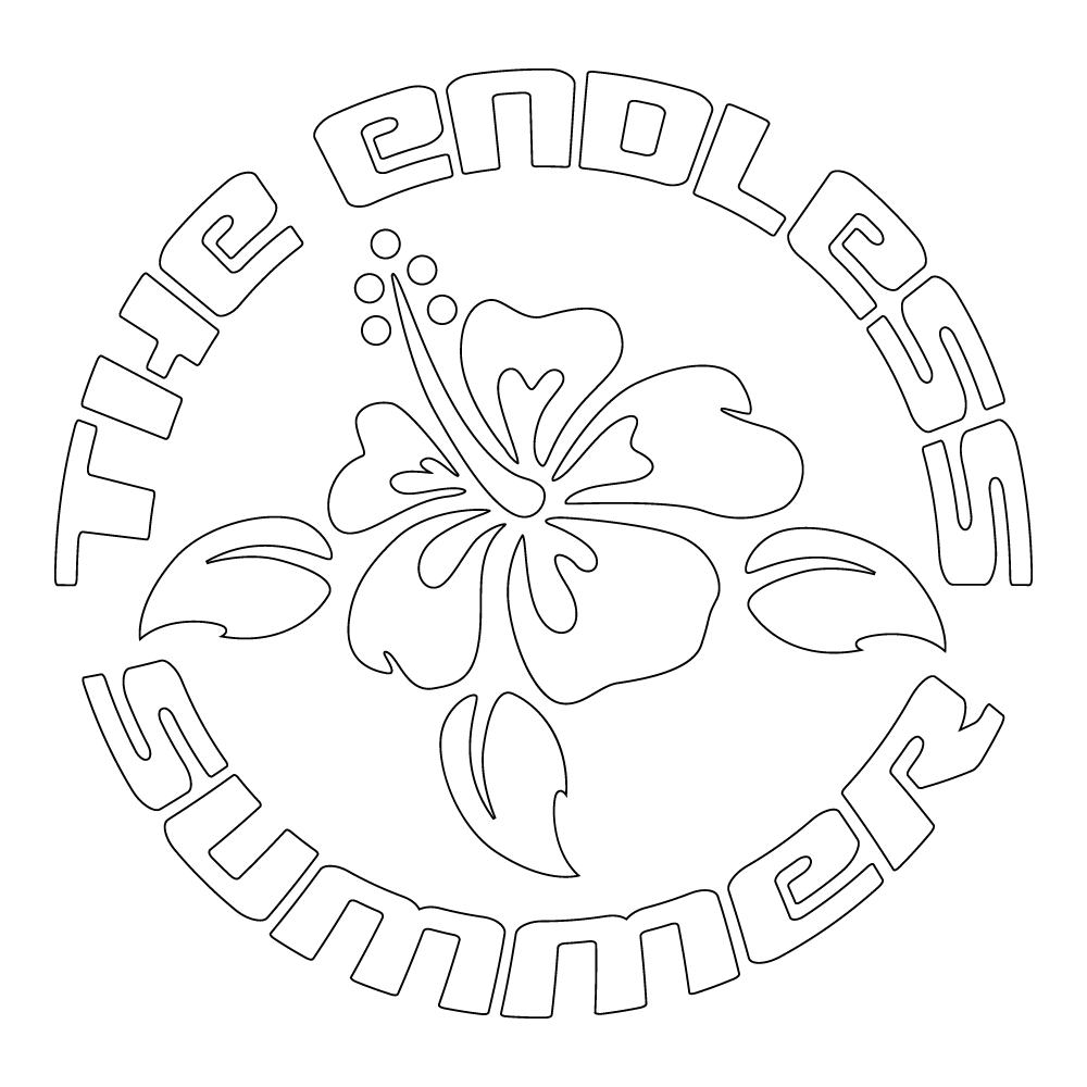 Inbloom Stickers Endless Summer Hibiscus Car Sticker