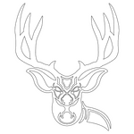 Inbloom Stickers Mule Deer Sticker Car Sticker
