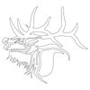 Inbloom Stickers Rocky Mountain Elk Sticker Car Sticker