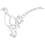Inbloom Stickers Perched Pheasant Sticker Car Sticker