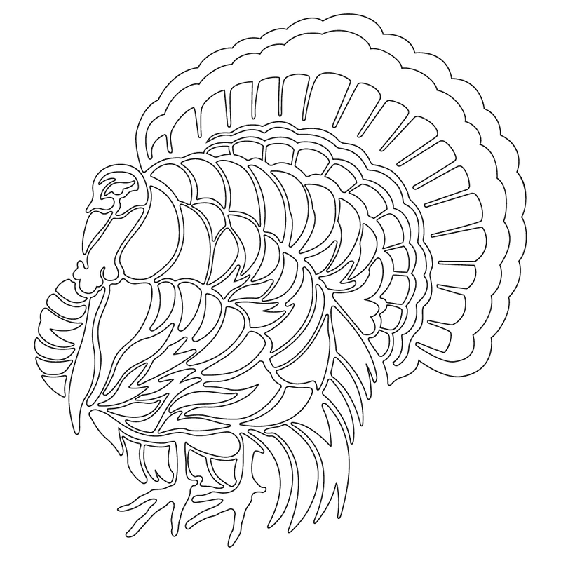 Inbloom Stickers Turkey Strut Sticker Car Sticker