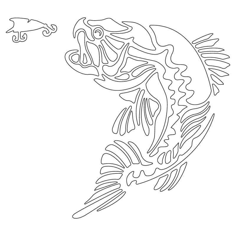 Inbloom Stickers Largemouth Bass Sticker Car Sticker