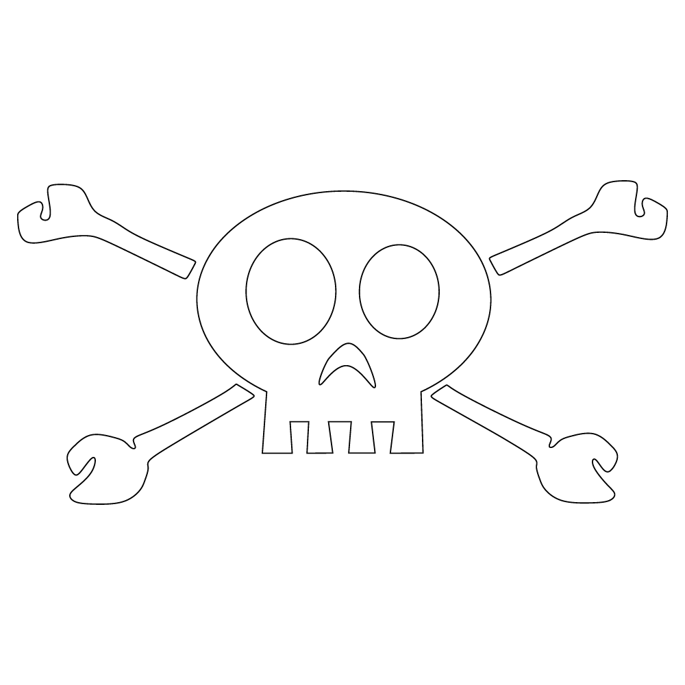 Inbloom Stickers Skull & Bones Car Sticker