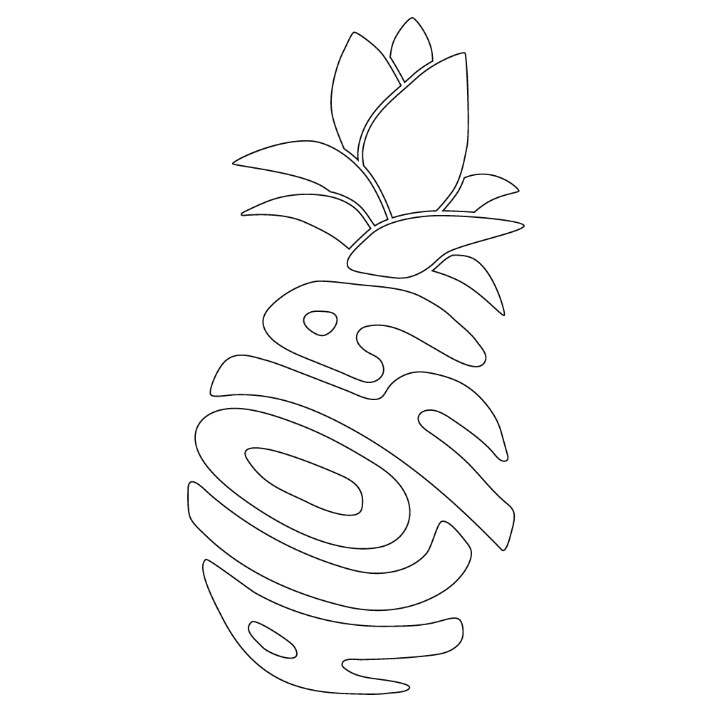 Inbloom Stickers Aloha Pineapple Car Sticker
