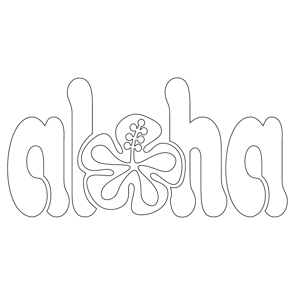 Inbloom Stickers Aloha Car Sticker