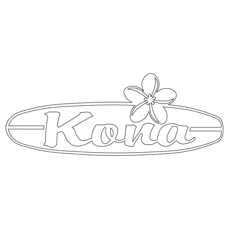Inbloom Stickers Kona Surfboard Car Sticker