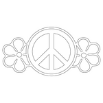 Inbloom Stickers Peace With Flowers Car Sticker
