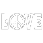 Inbloom Stickers Peace & Love Car Sticker