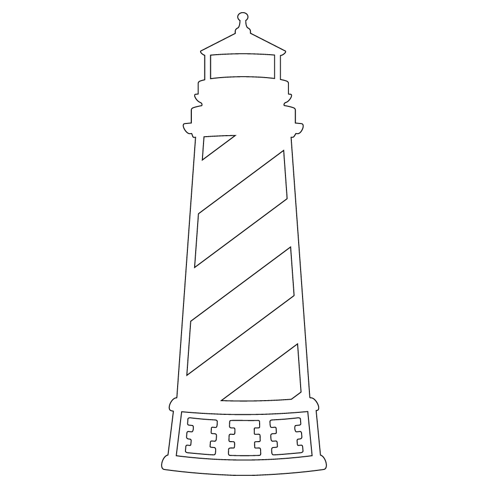 Inbloom Stickers Lighthouse Car Sticker