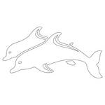 Inbloom Stickers Dolphins Car Sticker