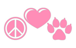 "738 Peace Love Paw  2.8"" x 5.3"""