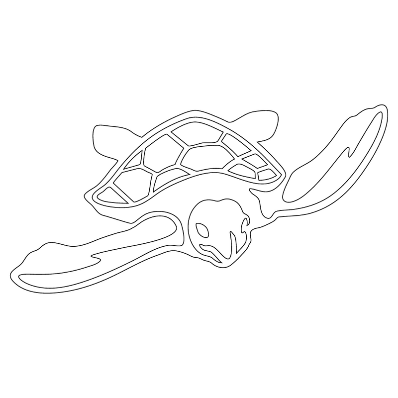 Inbloom Stickers Marine Turtle Car Sticker