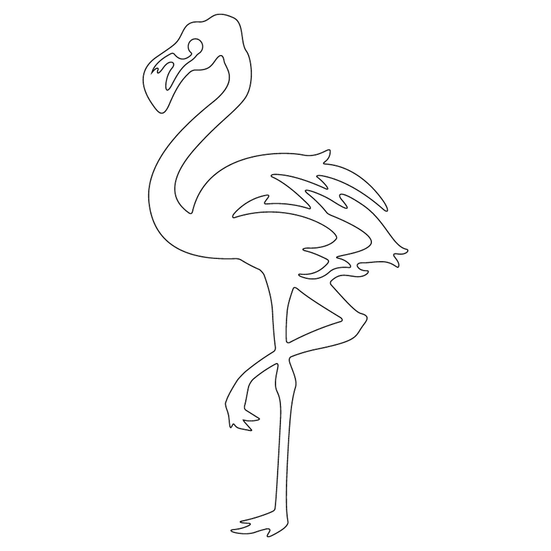 Inbloom Stickers Flamingo Car Sticker