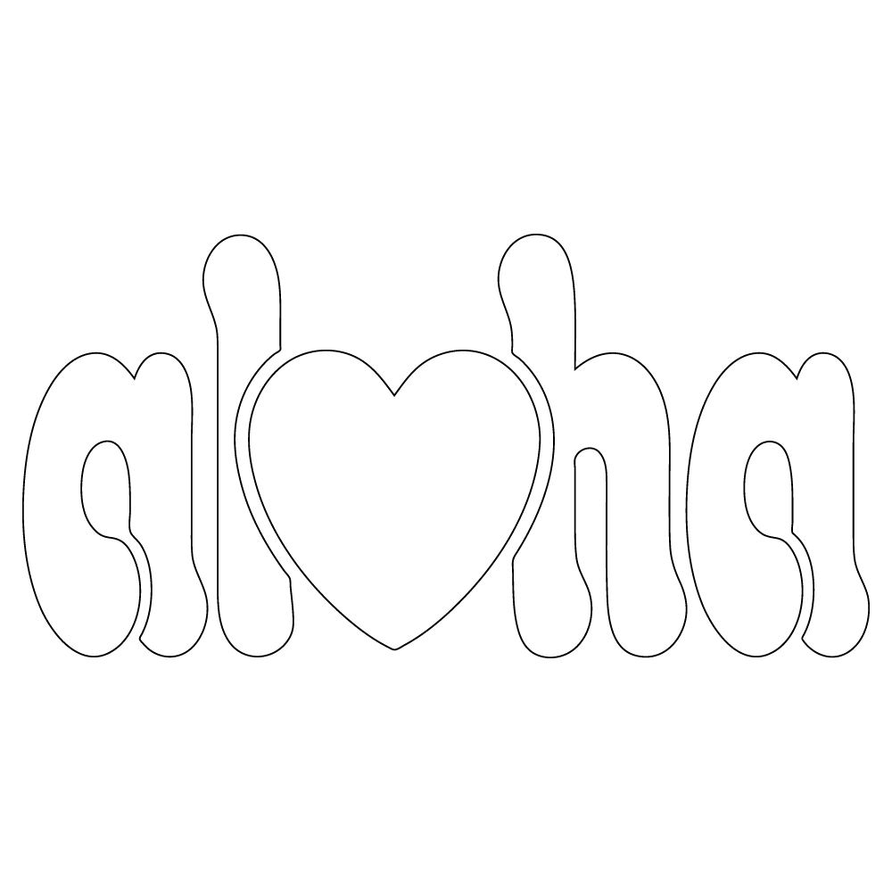 Inbloom Stickers Aloha Heart Car Sticker