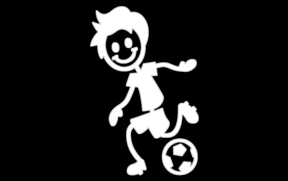 Inbloom Stickers Soccer Boy Sticker Car Sticker
