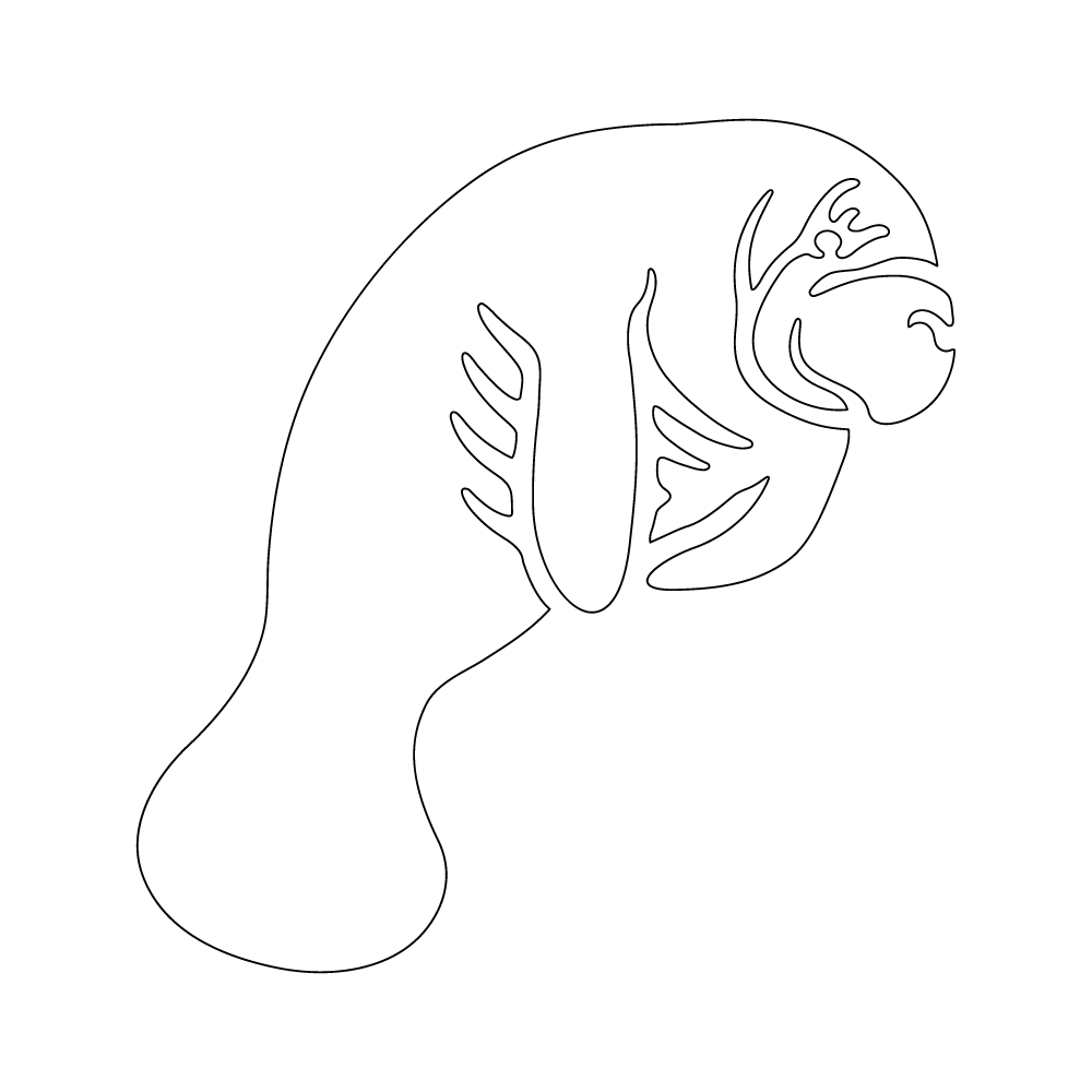 Inbloom Stickers Manatee Car Sticker