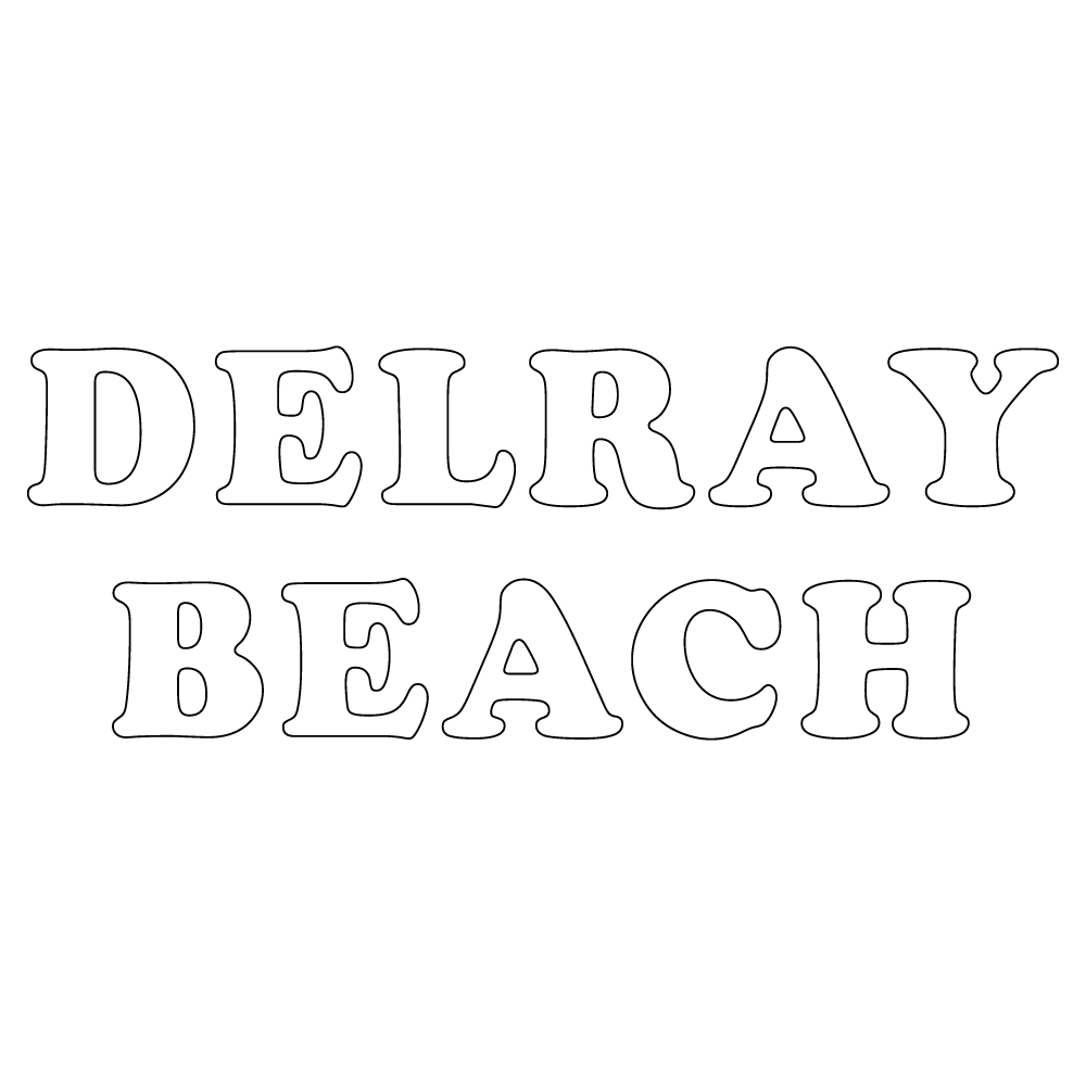 Inbloom Stickers Delray Beach Car Sticker