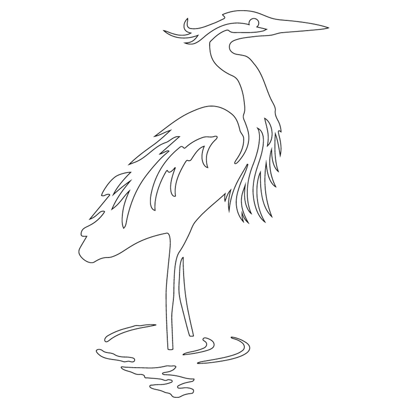 Inbloom Stickers Great Blue Heron Car Sticker