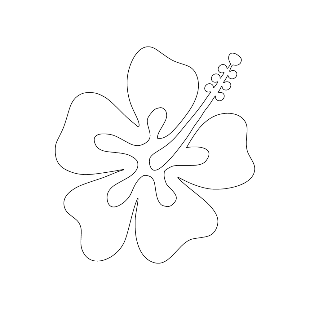 Inbloom Stickers Plumeria Car Sticker