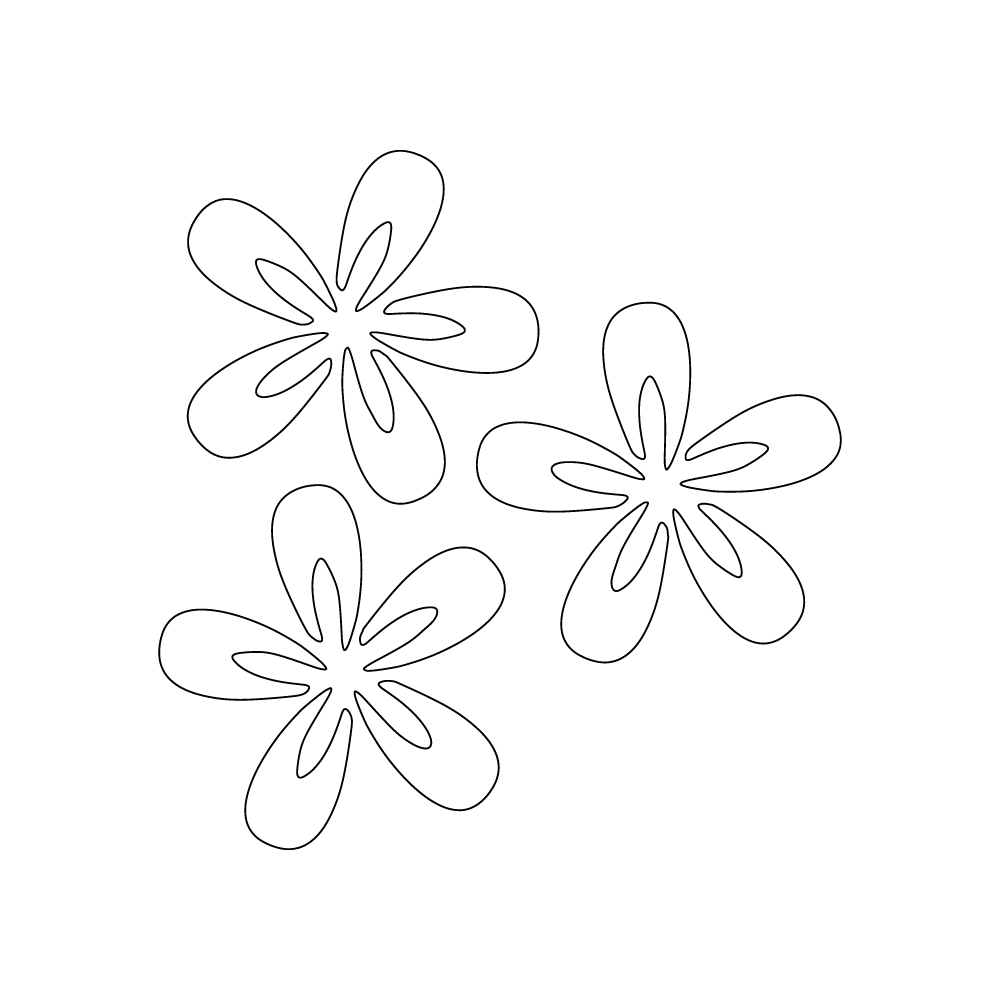 Inbloom Stickers Three Flowers Car Sticker