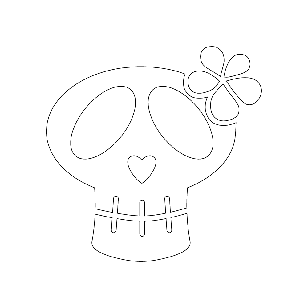 Inbloom Stickers Girly Skull Car Sticker