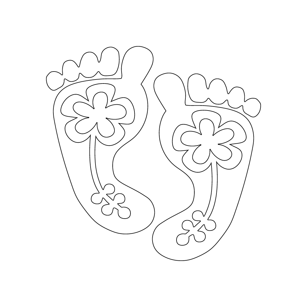 Inbloom Stickers Flower Feet Car Sticker