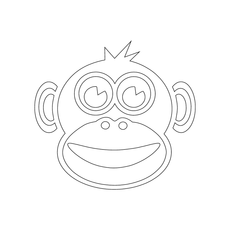 Inbloom Stickers Smiling Monkey Car Sticker