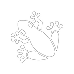 Inbloom Stickers Froggy Car Sticker
