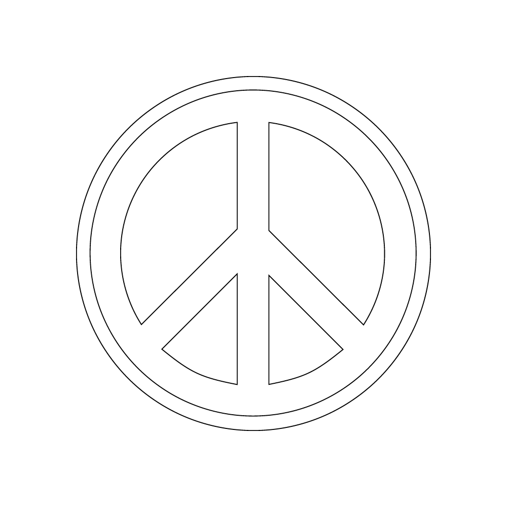 Inbloom Stickers Peace Sign Car Sticker