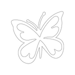 Inbloom Stickers Butterfly Car Sticker