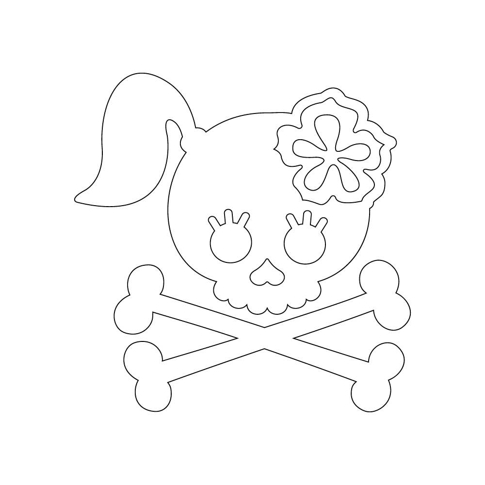 Inbloom Stickers Brandy Skull Car Sticker