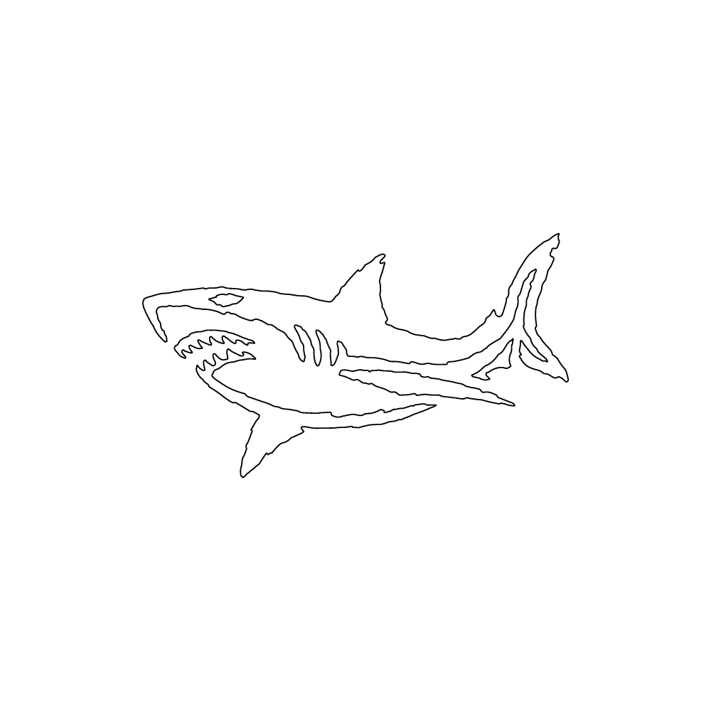 Inbloom Stickers Shark Car Sticker