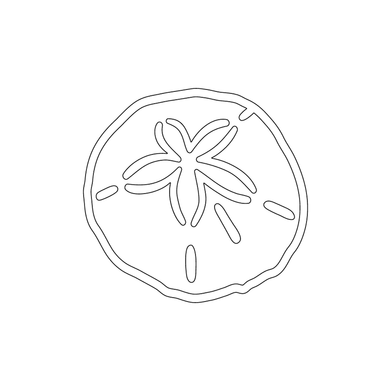 Inbloom Stickers Sand Dollar Car Sticker