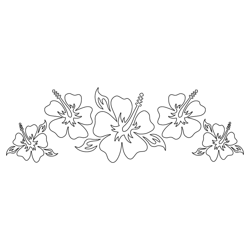 Inbloom Stickers Classic Hibiscus Flowers Car Sticker