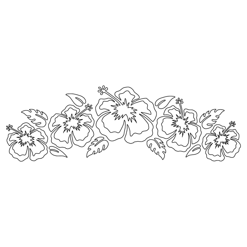 Inbloom Stickers Surf City Hibiscus Flowers Car Sticker