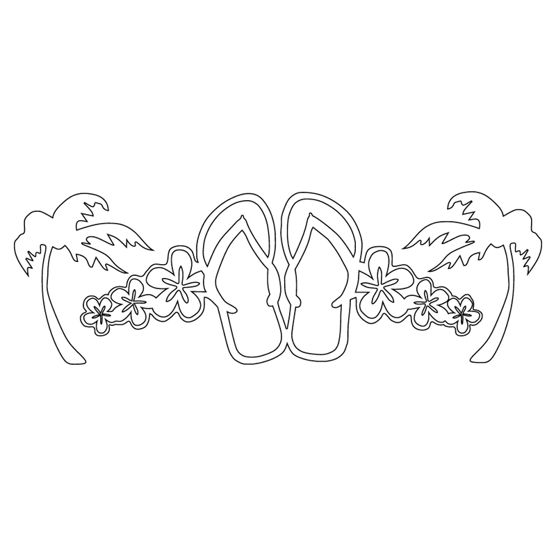 Inbloom Stickers Flower Flop Palms Car Sticker