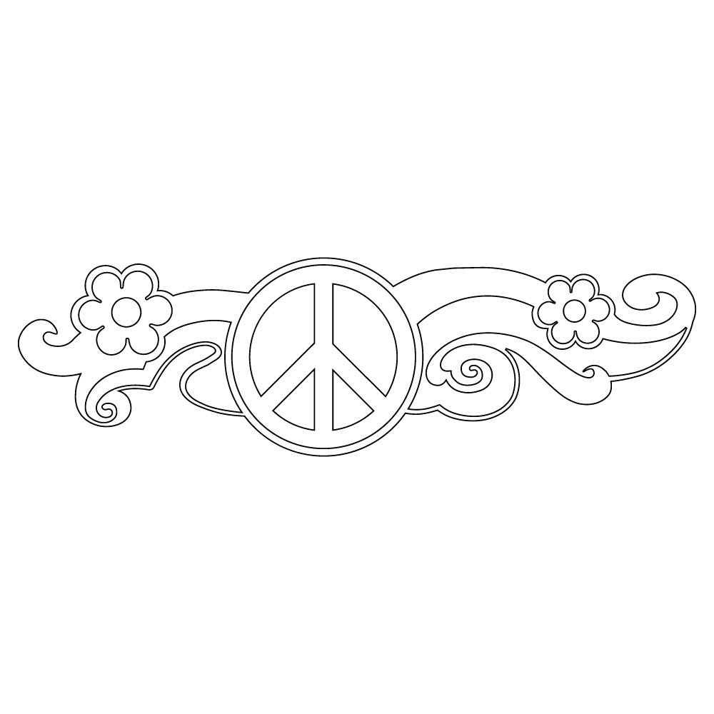 Inbloom Stickers Peace Car Sticker