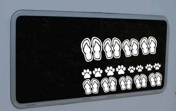 "922 Flip Flop Family Pack  12"" x 4"""