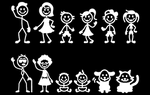 Inbloom Stickers Super Stick Figure Family Pack Car Sticker