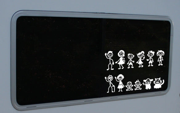 "923 Super stick figure Pack  12"" x 4"""