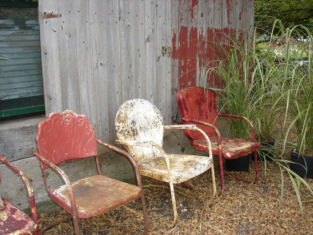 Chairs vintage rustic distressed aged