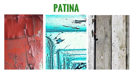 Image showing different types of Patina on wood