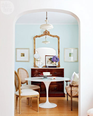 Framed image of a French styled dining room