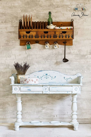 painted dresser in Annie Sloan Paint