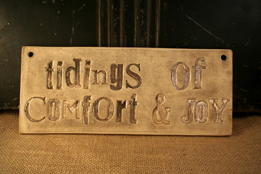 Tidings of Comfort and Joy wall plaque