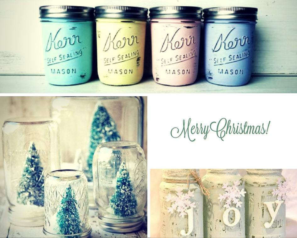 Christmas decorations made with Annie Sloan Chalk Paint