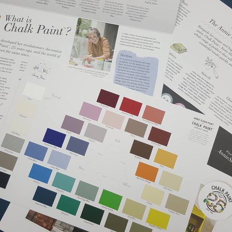 Swatches of Annie Sloan chalk paints